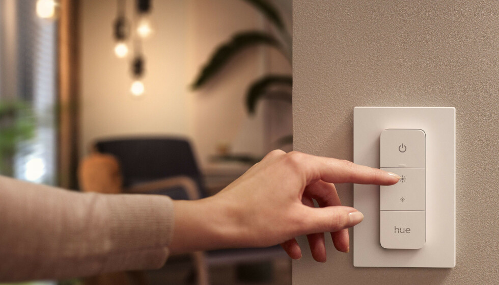 DIMMER SWITCH: Hue introduserer en redesignet fjernkontroll. Foto: Signify
