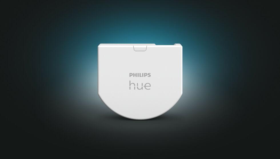 PHILIPS HUE WALL SWITCH MODUL: Hue lanserer fire nye produkter under CES 2021. Deriblant en ny veggmodul. Foto: SIgnify