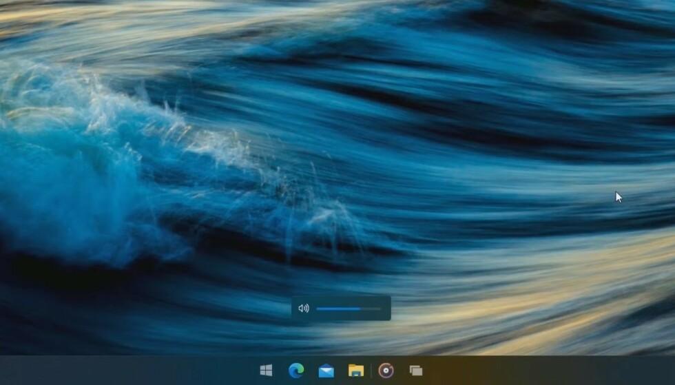Ny volumkontroll i Windows 10X. Foto: Skjermdump/Windows Central