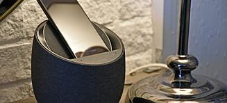 Smarthøyttaler med trådløs lading