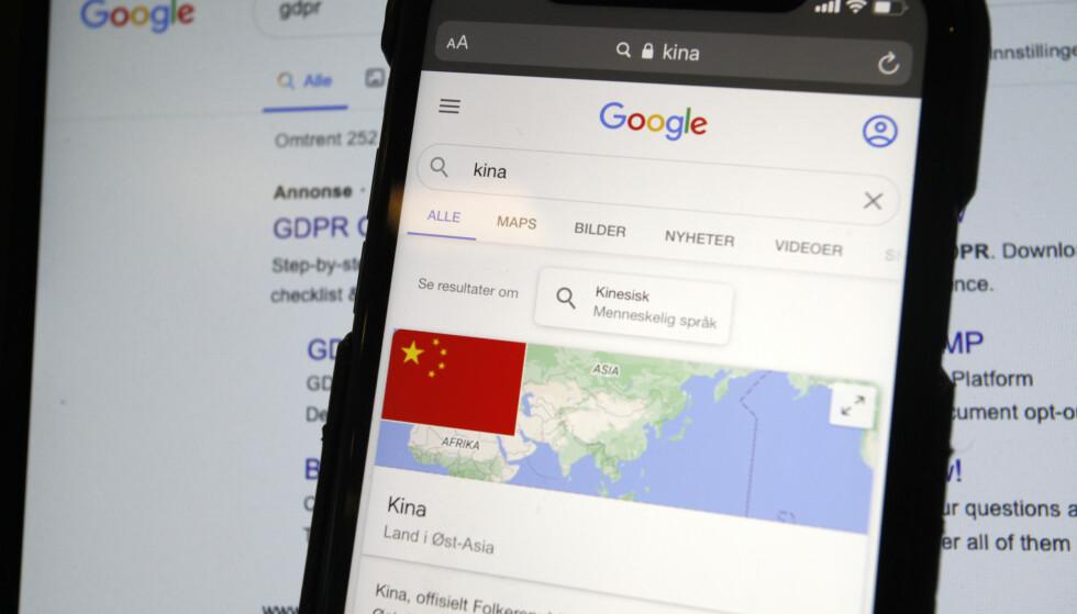 BEST I NORDEN: Datatilsynet har utstedt GDPR-gebyrer for 8,5 millioner kroner. Google har fått den største bota i Europa (50 mill euro fra Frankrike. Samtidig er det nordmenn som bekymrer seg for dataovervåking fra kinesiske produkter. Foto: Øystein B. Fossum
