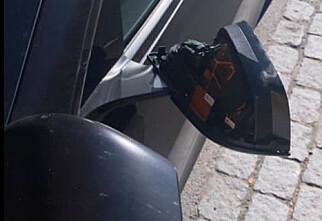 Utførte hærverk på parkert Tesla