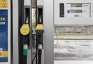 Nedgang i salg av bensin og diesel