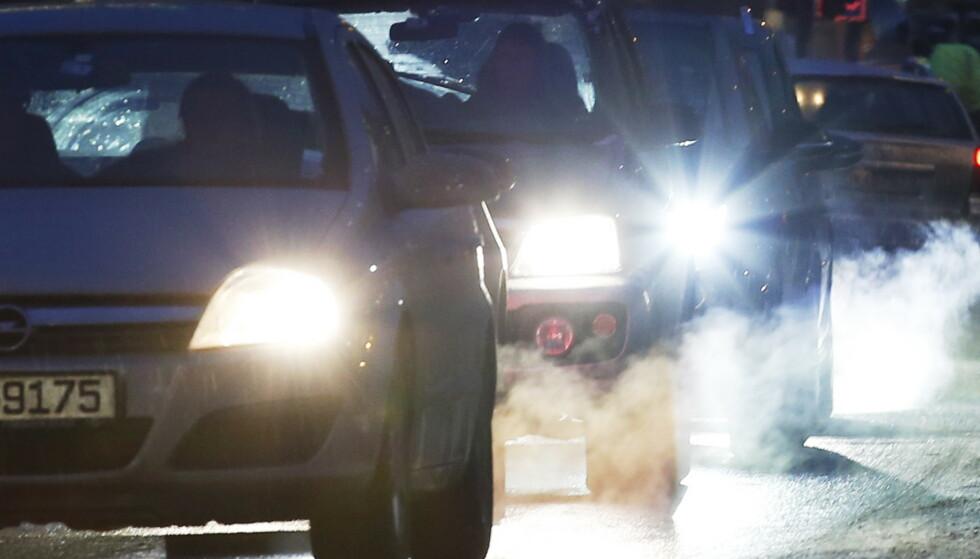 DIESELFORBUD: På grunn av akutt luftforurensning var det innført et generelt forbud mot å bruke dieselbiler i Oslo, store deler av tirsdag 17. januar 2017. Foto: Erik Johansen / NTB
