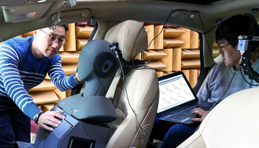 I KIA OG HYUNDAI: Koreanske Kia og Hyundai har inngått en avtale om brukt av aktiv støydemping i bilene sine. Det kan senke støyen i kupeen kraftig. Foto: Hyundai