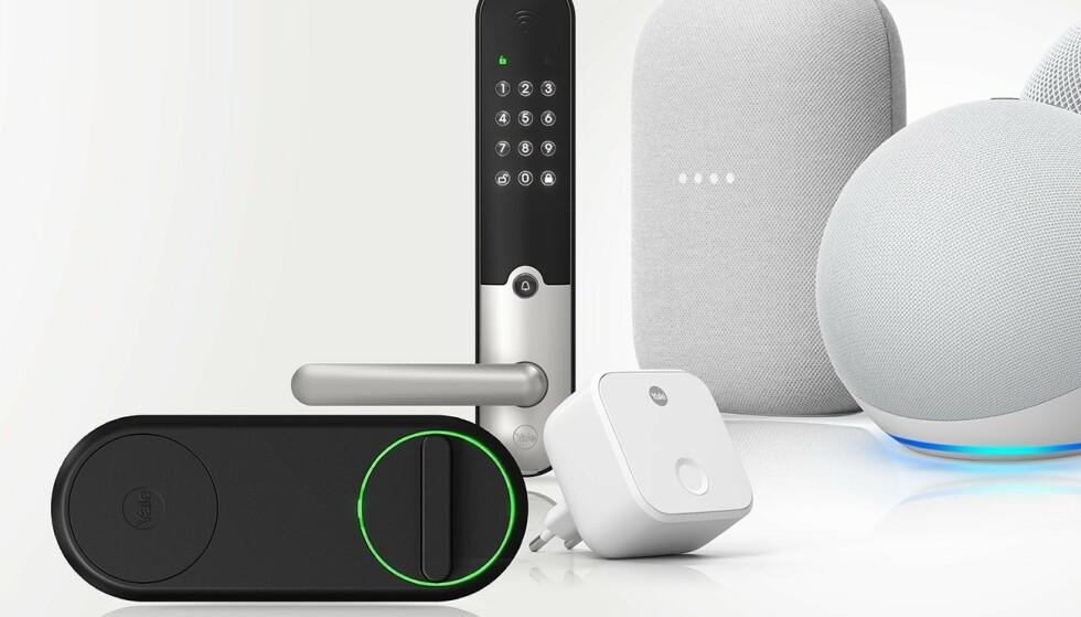TO NYE: Både Yale Linus og Yale Doorman L3 har nå blitt kompatible med Google Assistent, førstnevnte også med Apples smarthjemløsning, HomeKit. Foto: Yale