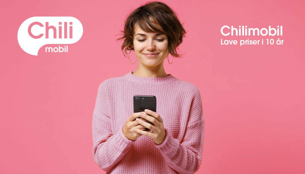 FRITT FREM: Med inkludert SMS og MMS, og fri tale i tillegg til ubegrenset data med et abonnement fra Chilimobil, kan du bruke mobilen akkurat som det passer deg.