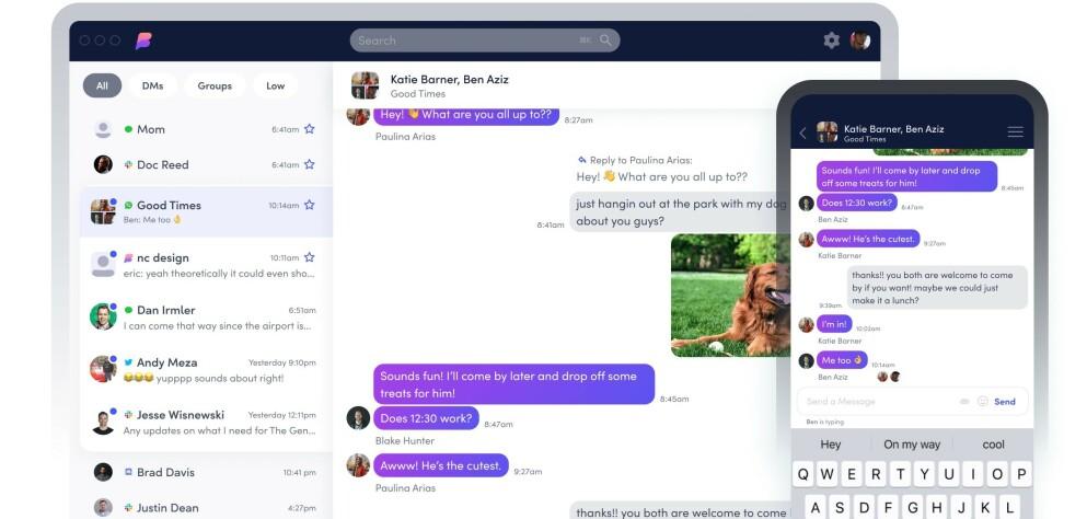 SAMLER CHAT: Beeper er en ny app som samler 15 ulike chattetjenester. Foto: Beeper