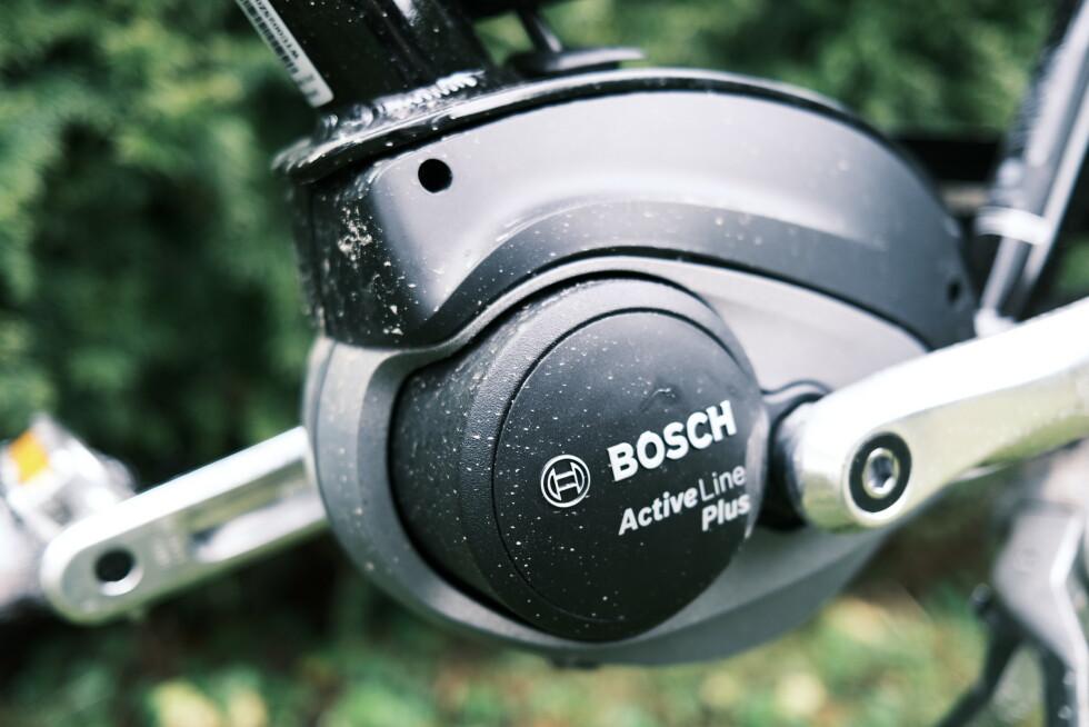 ACTIVE LINE PLUS: Som vanlig går det i Bosch-motor på Electras elsykler.