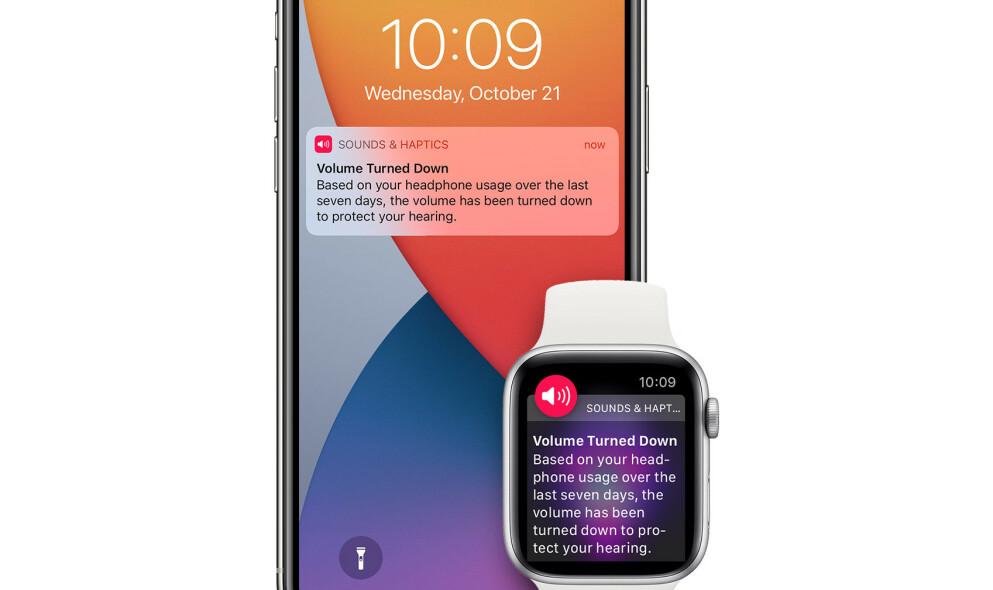 GJØR ENDRINGER: Apple vil ikke lenger automatisk skru ned volumet på hodetelefonene dine. Foto: Apple
