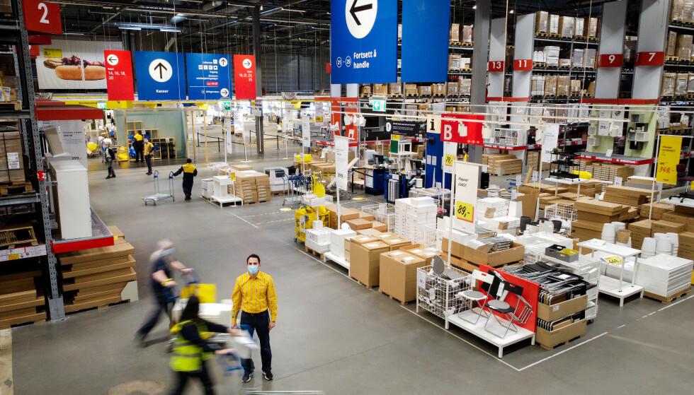 BILLIGERE: Ikea har nå halvert klikk-og-hent-prisen fra 199 til 99 kroner. Foto: Bjørn Langsem / Dagbladet