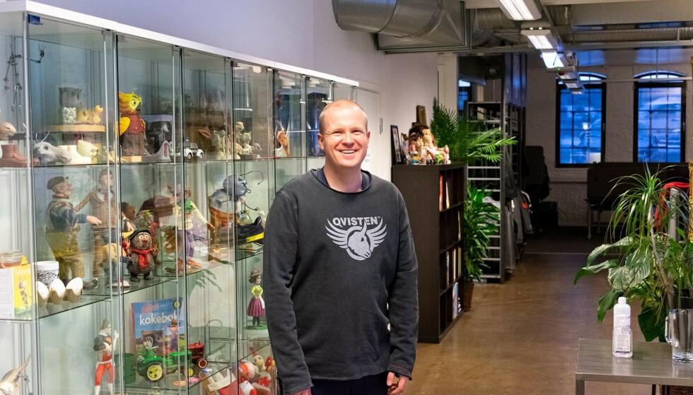 TEKNOLOGISJEF: Andreas Aanerud er teknologiansvarlig hos et av Norges mest erfarne animasjonsstudioer, Qvisten (Foto: DeltaV)