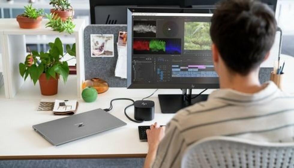 GOD LØSNING: Tunge arbeidsstasjoner kan enkelt betjenes hjemmefra takket vært HP Remote Boost. Foto: SEAN DAGEN PHOTOGRAPHY INC.