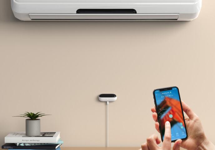 SMART OG ENKELT: For de fleste varmepumper tar det bare sekunder å koble opp Ambi Climate Mini.