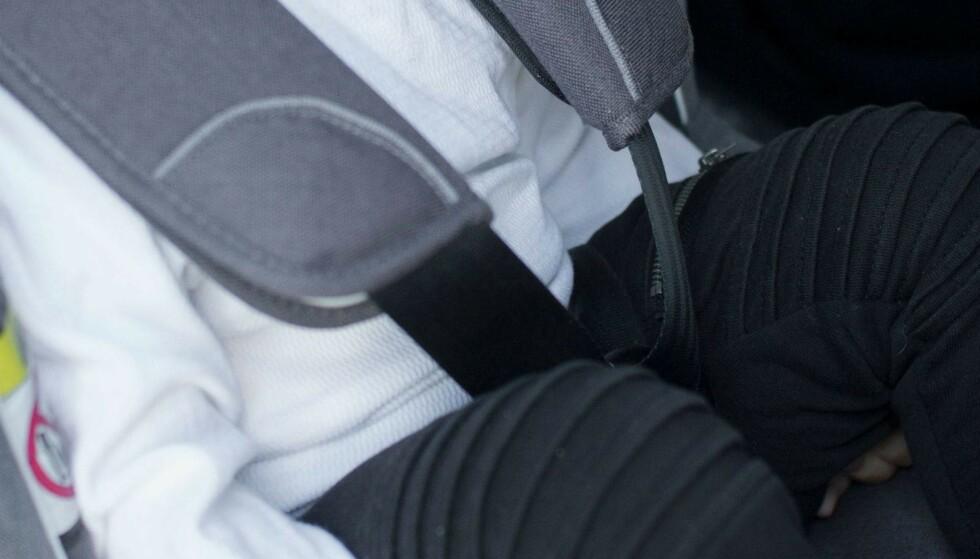 IKKE SLIK: Her er jakka av, men med samme stramming som med jakka. Her er det alt for mye luft. Foto: Besafe
