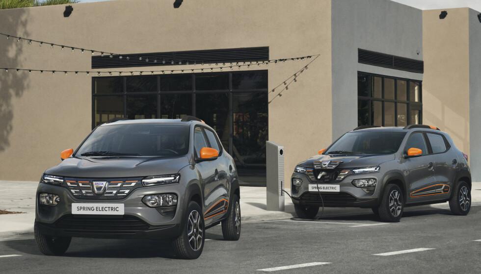 BILLIG: Fabrikkens mål er at Dacia Spring skal bli Europas billigste elbil. Det må bety rundt 150.000 i Norge. Foto: Dacia