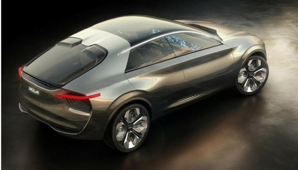 NOE HELT NYTT: Kias nye elbil blir større enn dagens Soul, og vi likne mye på denne konseptbilen. Med 800 volts elektrisk anlegg lader den lynkjapt. Foto: Kia