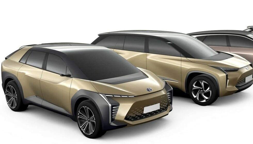 TETT TIL BRYSTET:Toyota holder kortene tett til brystet når det gjelder utseende til sin første elbil. Dette er det nærmeste vi kommer, men mer informasjon kommer de nærmeste månedene, ifølge fabrikken. Ill: Toyota