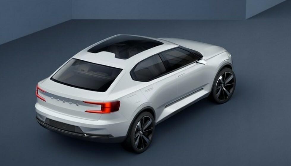 VOLVOS ANDRE ELBIL: Tidlig i mars viser Volvo fram sin andre elbil. Dette er bare en av mange elbil-stjerner som kommer i løpet av året. Foto: Volvo