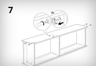 Ikea-instruksjoner «feil vei»