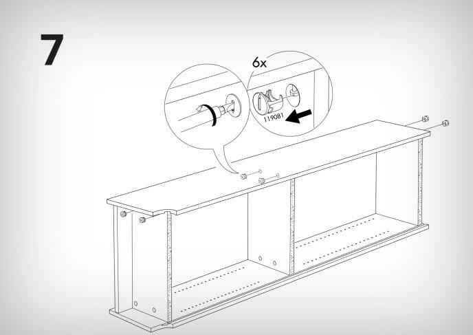 Ikea har laget instruksjoner for hvordan du demonterer en Billy-bokhylle. Foto: Ikea