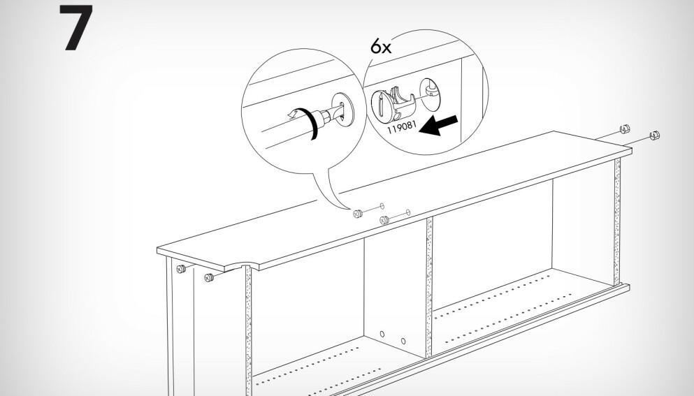 FEIL VEI: Nå har Ikea kommet med demonteringsanvisninger for flere produkter. Foto: Ikea