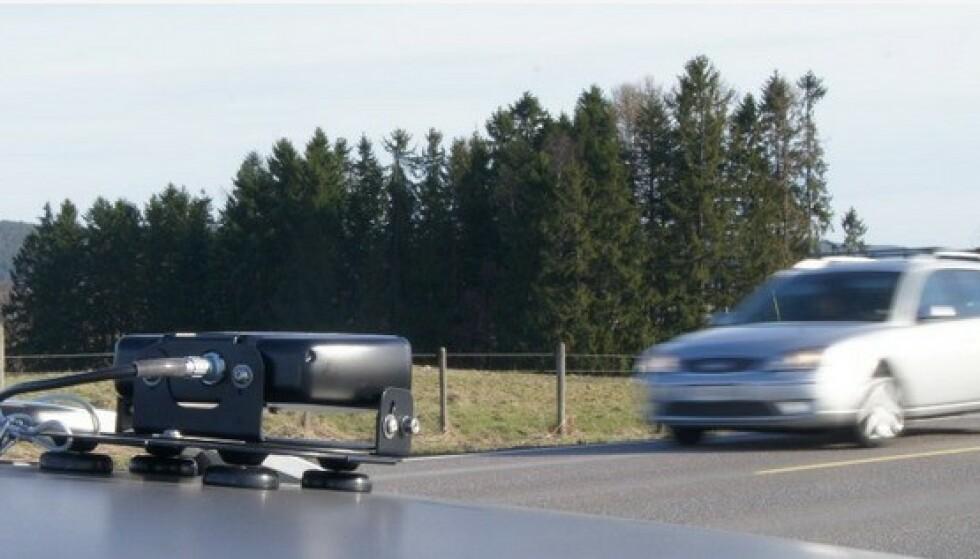 1100 TATT: Det tar under ett sekund for dette kameraet å skanne skiltet på bilen din, sjekke det i datasystemene til Statens vegvesen og varsle kontrollørene dersom du har noe uoppgjort med staten eller forsikringsselskapet. Foto: Statens vegvesen