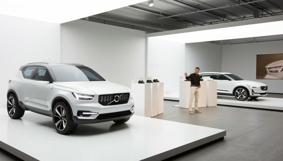 TO ELBILER: Allerede i 2016 hadde daværende designsjef, nå sjef for Polestar, Thomas Ingenlath, utseende til Volvo to elektriske biler klart. Foto: Volvo