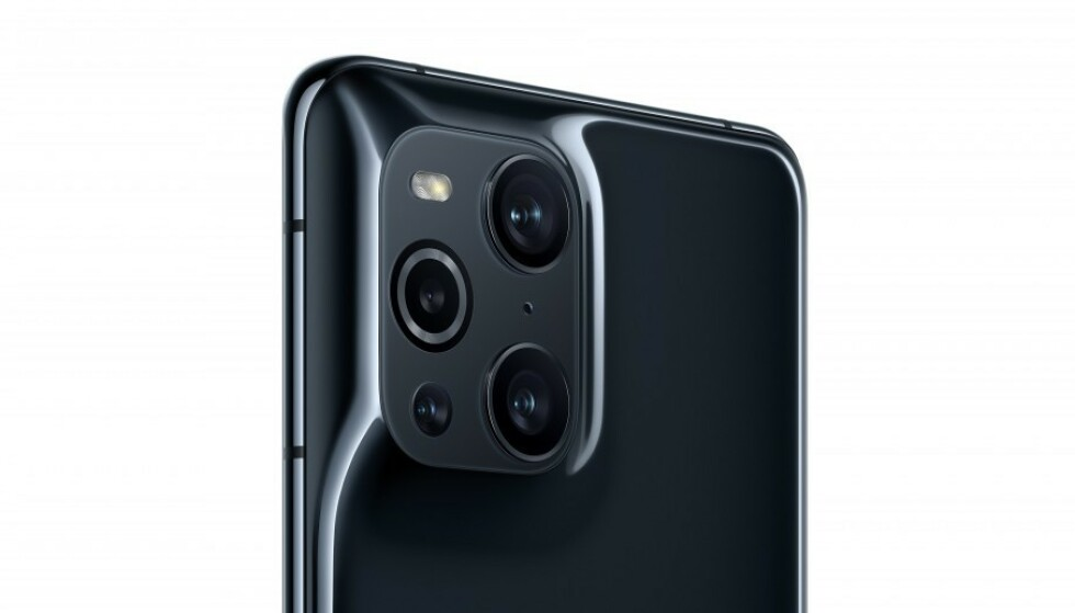 SPENNENDE KAMERA: Oppo Find X3 har fire kamerasensorer på baksiden, ett av dem er nærmest et mikroskop. Foto: Oppo