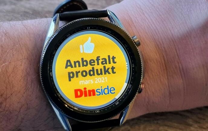 ANBEFALES: Samsung Galaxy Watch 3 får Dinsides «Anbefalt produkt»-stempel. Foto: Pål Joakim Pollen