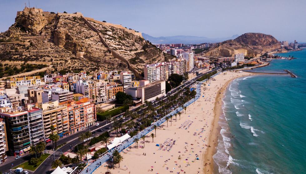 LAVE SMITTETALL: Alicante ligger i en av regionene i Spania med de laveste smittetallene om dagen. Foto: NTB