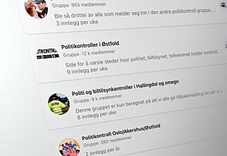 Organisasjoner ber folk slutte å varsle om politikontroller