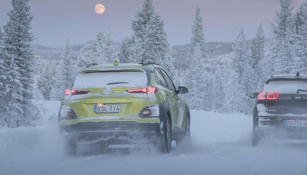 MYE FOR PENGENE: I dag får du Hyundai Kona Electric med stor batteripakke fra 330 000 kroner. I februar kostet den billigste, riktignok bedre utstyrt, 400 000 kroner. Foto: Markus Pentikainen