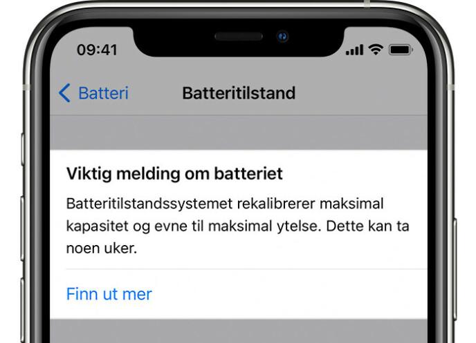 REKALIBRERER BATTERIET: Har du iPhone 11 og opplever batteriproblemer, kan iOS 14.5 forhåpentligvis fikse det. Foto: Apple