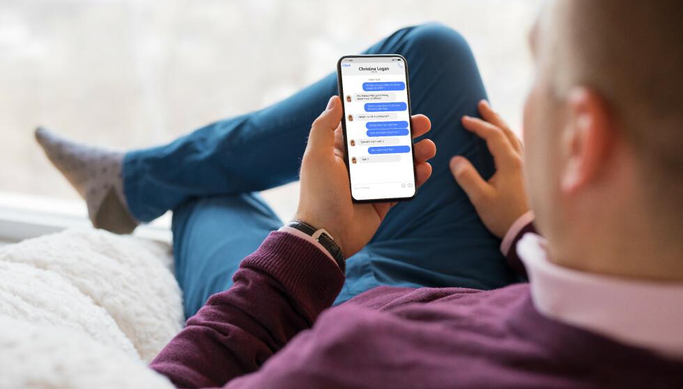 IMESSAGE: Android-brukere må se langt etter en offisiell iMessage-app. Foto: NTB/Shutterstock
