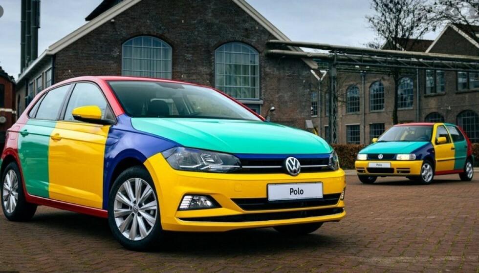 DÅRLIG BRUKTPRIS: For noen år siden lanserte VW en Polo med disse fargene. De fleste bruktbilkundene går forbi en slik bil, viser undersøkelsen. Det påvirker bruktbilprisen negativt. Foto: Kvd