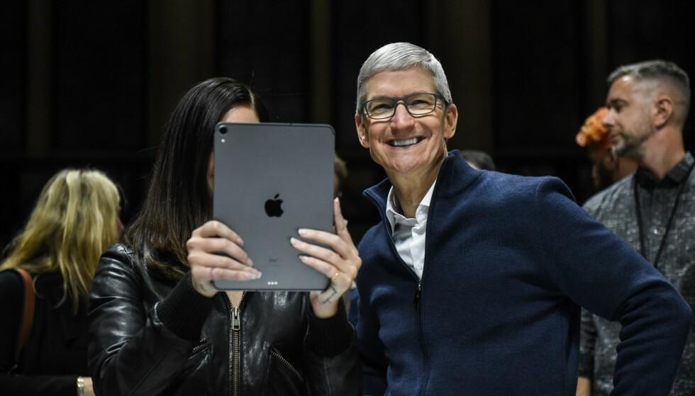 APPLE-LANSERING: Ifølge Siri går et Apple-arrangement av stabelen neste uke. Der får vi muligens vite mer om en ny iPad Pro. Stephanie Keith/Getty Images/AFP/NTB