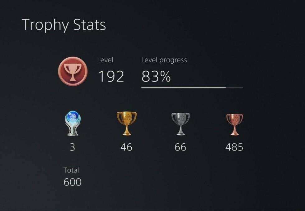 Ny Trophy Stats-skjerm. Foto: Sony