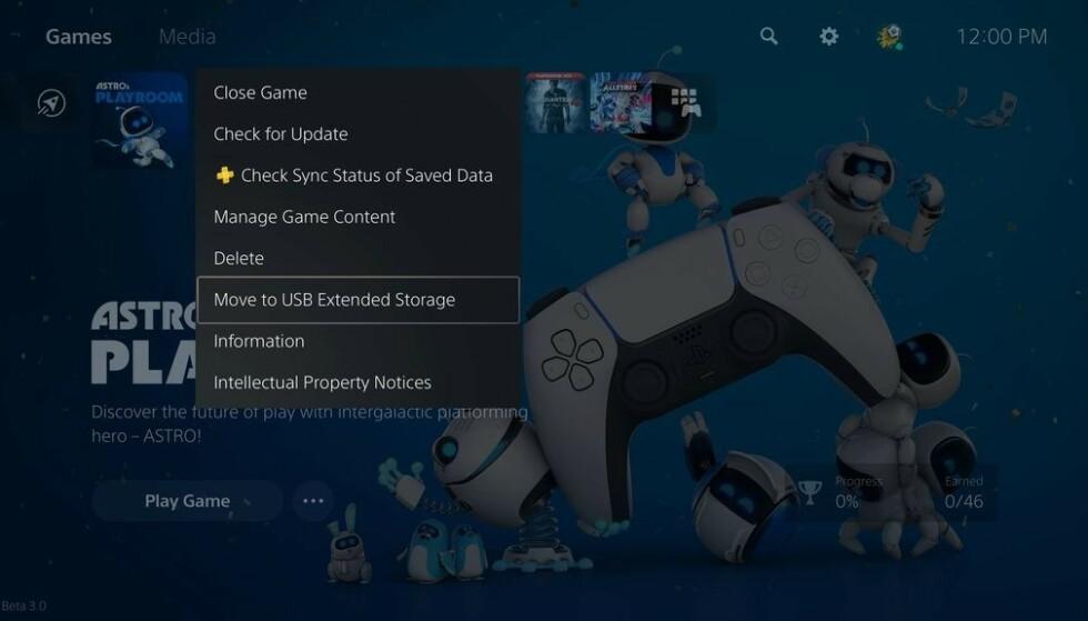 Nå kan du flytte spill til ekstern lagring. Foto: Sony