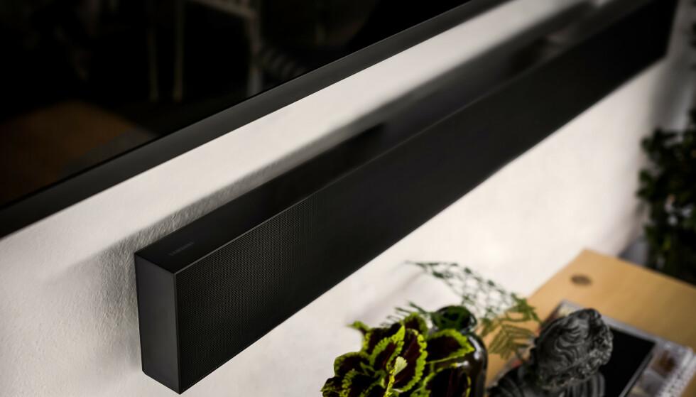 LYDPLANKE: The Terrace Soundbar er en lydplanke som også er ment for utendørsbruk. Foto: Samsung