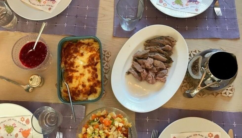FESTMIDDAG: Gode råvarer er mye av hemmeligheten bak måltidene fra Godtlevert. Foto: Privat