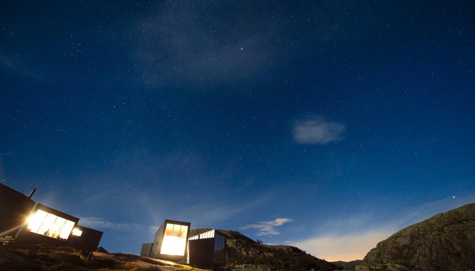 Sommernatt i fjellet. Fra Skåpet en flott natt. Foto: Turistforeningen