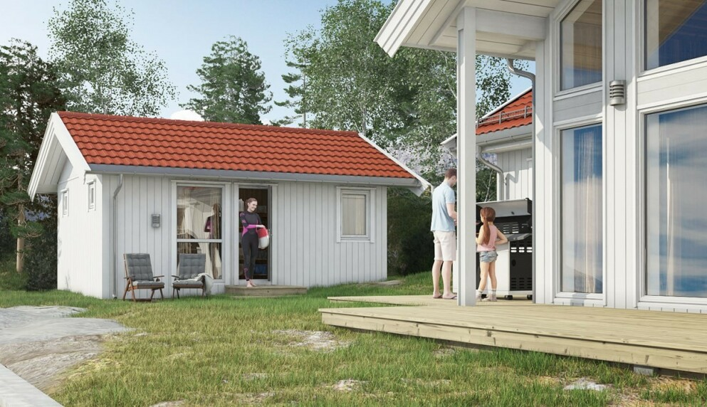 BYGGE ANNEKS: Ønsker du ekstra overnattingsplass på hytta, kan et anneks være en god løsning. Men ønsker du å bygge et, er det svært viktig at du setter deg inn i hvilke regler som gjelder først. Foto: Saltdalshytta.no.