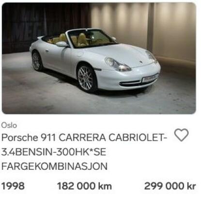 911: De rimeligste 911-modellene er produsert fra 1997 og har vannavkjølt motor. Foto: Privat