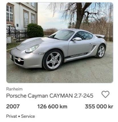 """CAYMAN: """"En kjøremaskin for lite penger"""" var konklusjonen etter at vi testet Porsche Cayman i 2013. Foto: Privat"""