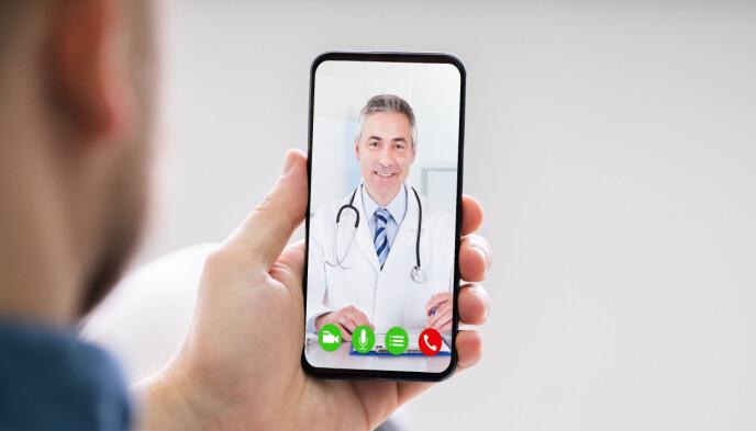VIDEOKONSULTASJON: En helseforsikring kan gi deg videokonsultasjon med lege. Foto: NTB / SHUTTERSTOCK