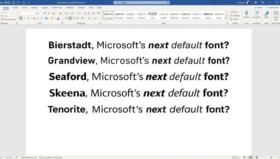 Dette er de fem nominerte. Foto: Microsoft