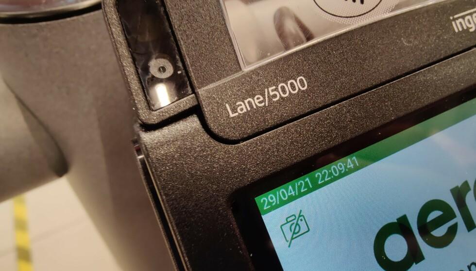 NYE BETALINGSTERMINALER: En ny type betalingsterminaler har fått et kamera på toppen. Foto: Pål Joakim Pollen