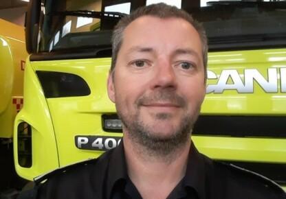 LITE SKAL TIL: Brigadesjef hos Drammensreigonens brannvesen IKS, Gjermund Nymoen.