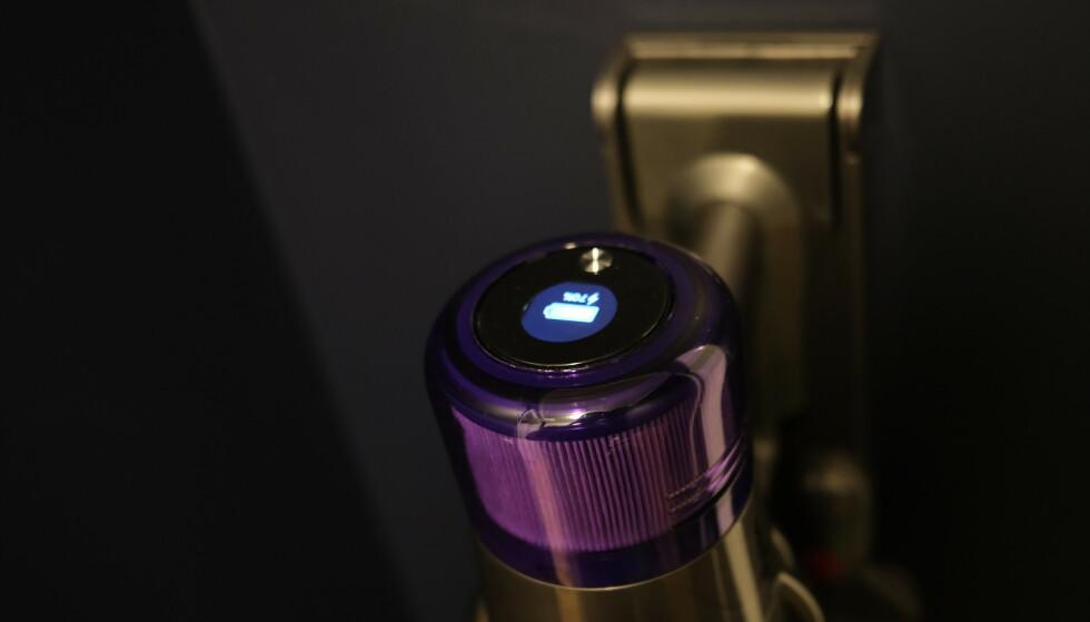 DYSON V11: Ladeeffekten ligger på rundt 35 watt. Foto: Martin Kynningsrud Størbu